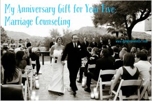 My Anniversary Gift for Year Five: Marriage Counseling